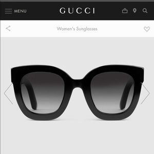 Gucci round frame acetate sunglasses with star